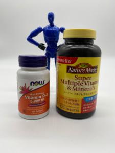 「スーパーマルチビタミン+ミネラル」と「ビタミンD-3」【サプリ】
